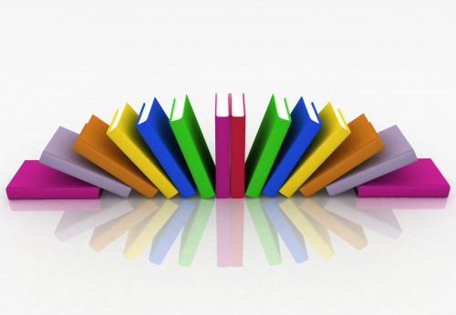 books isolated on background white