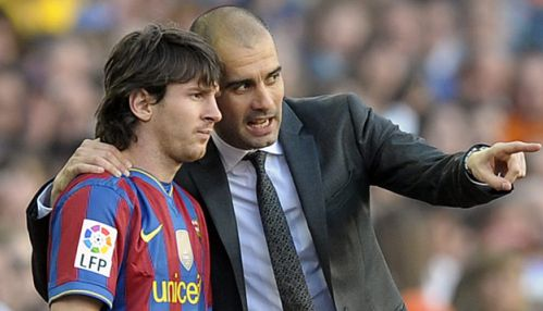 Barcellona Messi e Guardiola