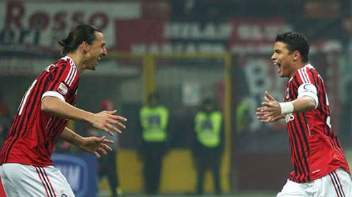 Ibrahimovic e Thiago Silva