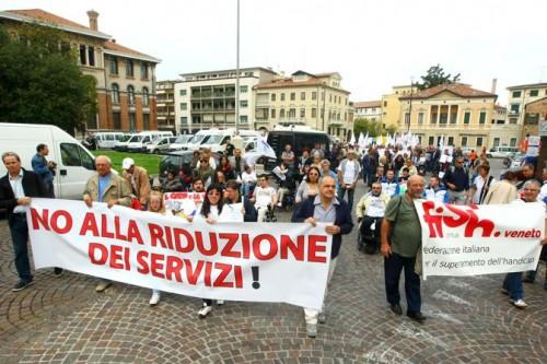 Una recente manifestazione nel Veneto