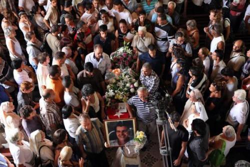 Cuban dissident Oswaldo Paya funeral