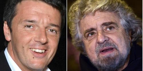 EUROPEE: DOMANI SFIDA DELLO SHARE PER RENZI, GRILLO E CAV