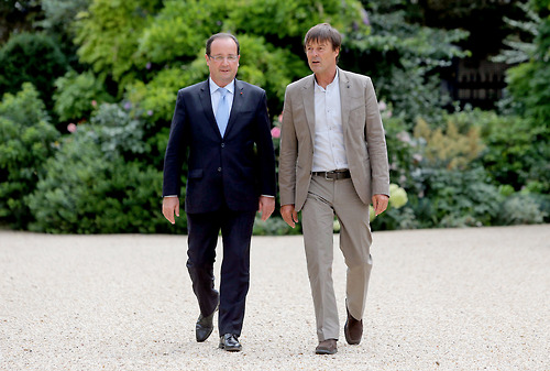 Nicolas Hulot, a destra, con il presidente François Hollande